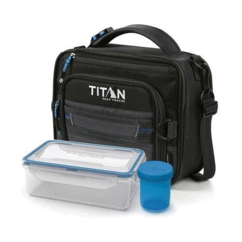 Titan Deep Freeze Expandable Lunch Box Insulated with Leak Proof Container set